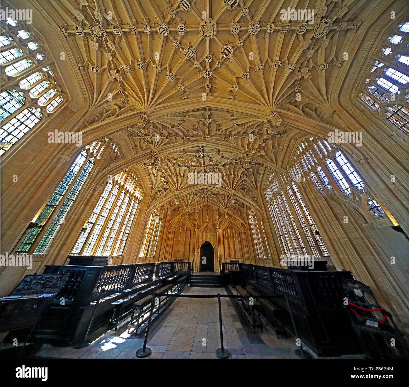 Divinity School, Bodleian Library, Broad Street, Oxford, Cottswolds, South East England, UK - Stock Image