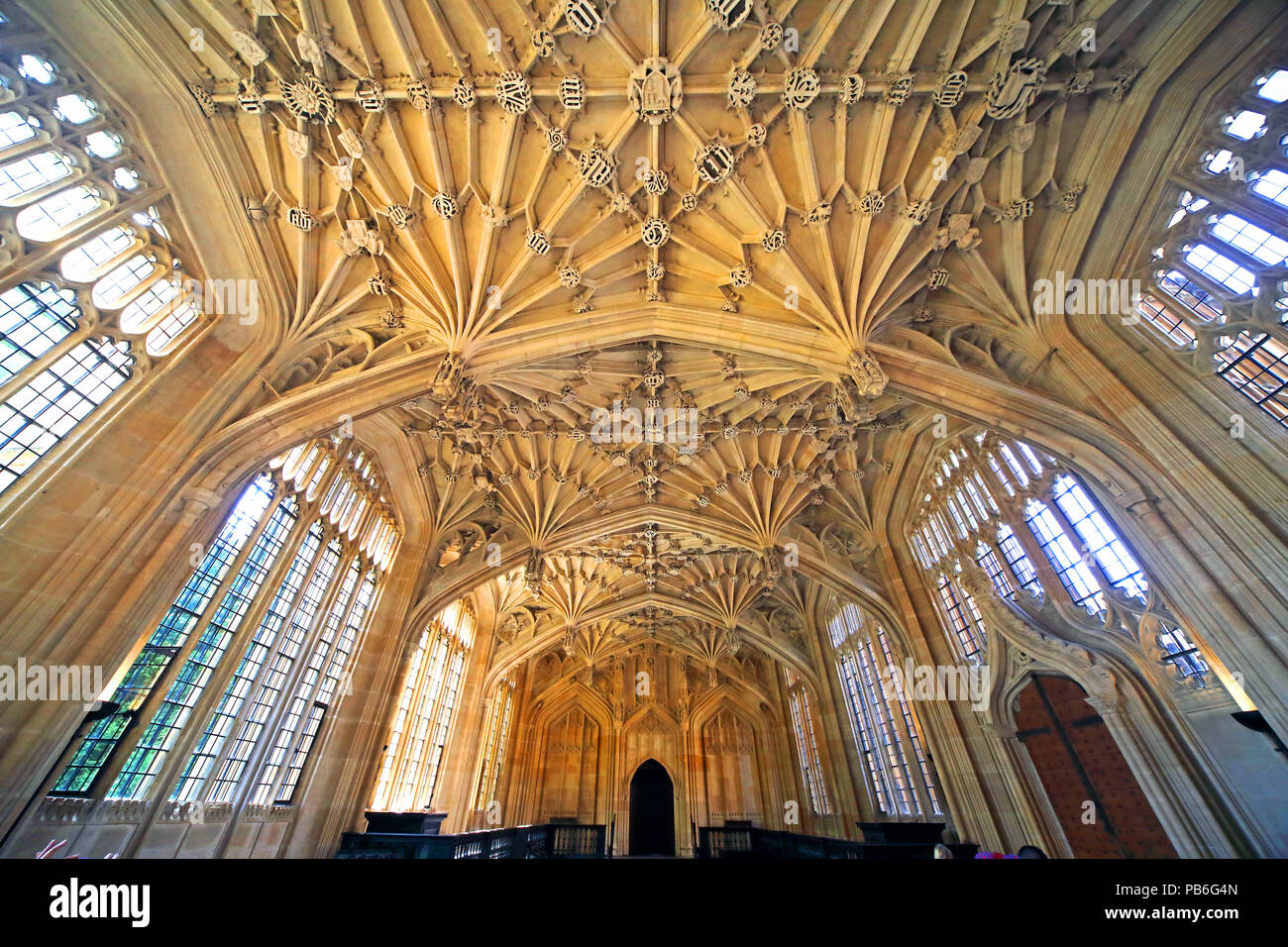 Divinity School, Bodleian Library, Broad Street, Oxford, Cottswolds, South East England, UK Stock Photo