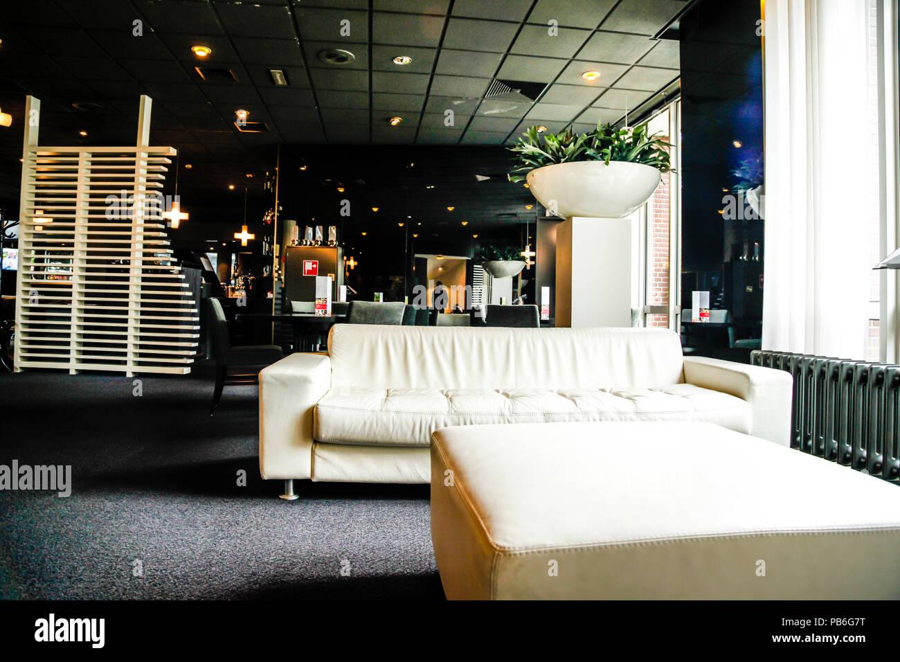 The lobby interior of the Apollo Hotel in Breda City Center, the ...