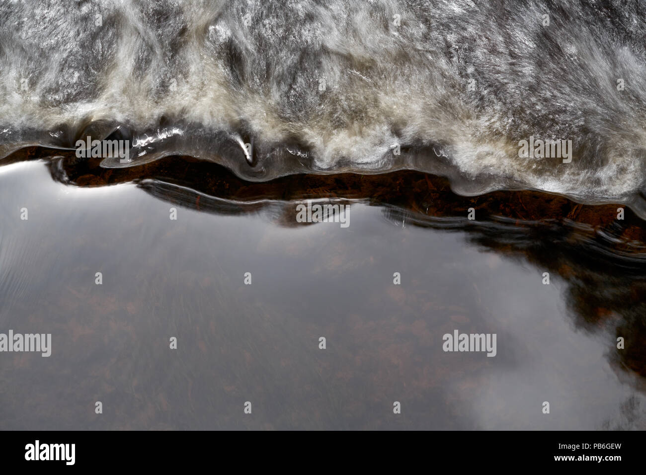 Abstact of running water in drainage channel, Colac, Victoria, Australia. - Stock Image