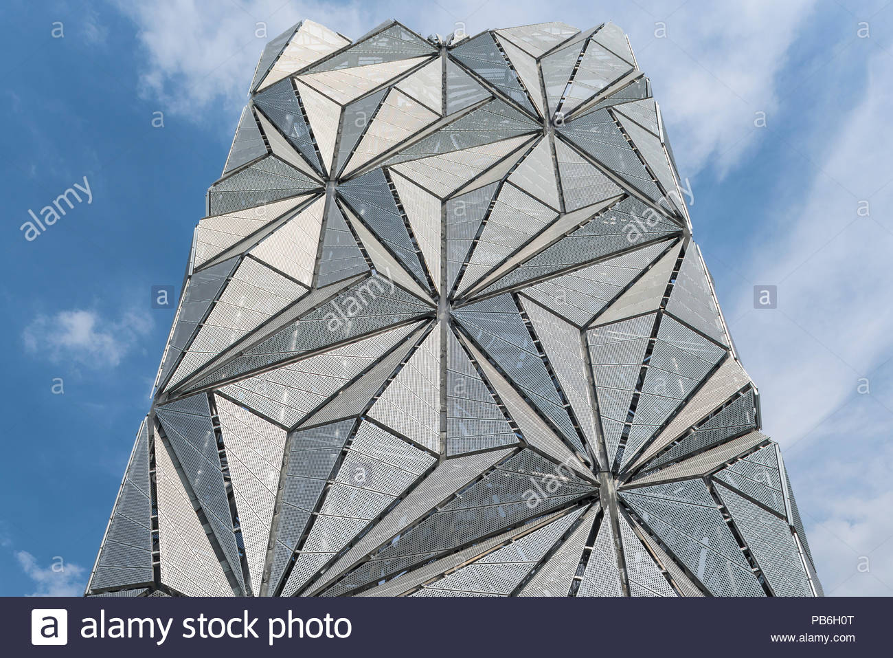 The Optic Cloak, Greenwich Peninsula Energy Centre - Stock Image