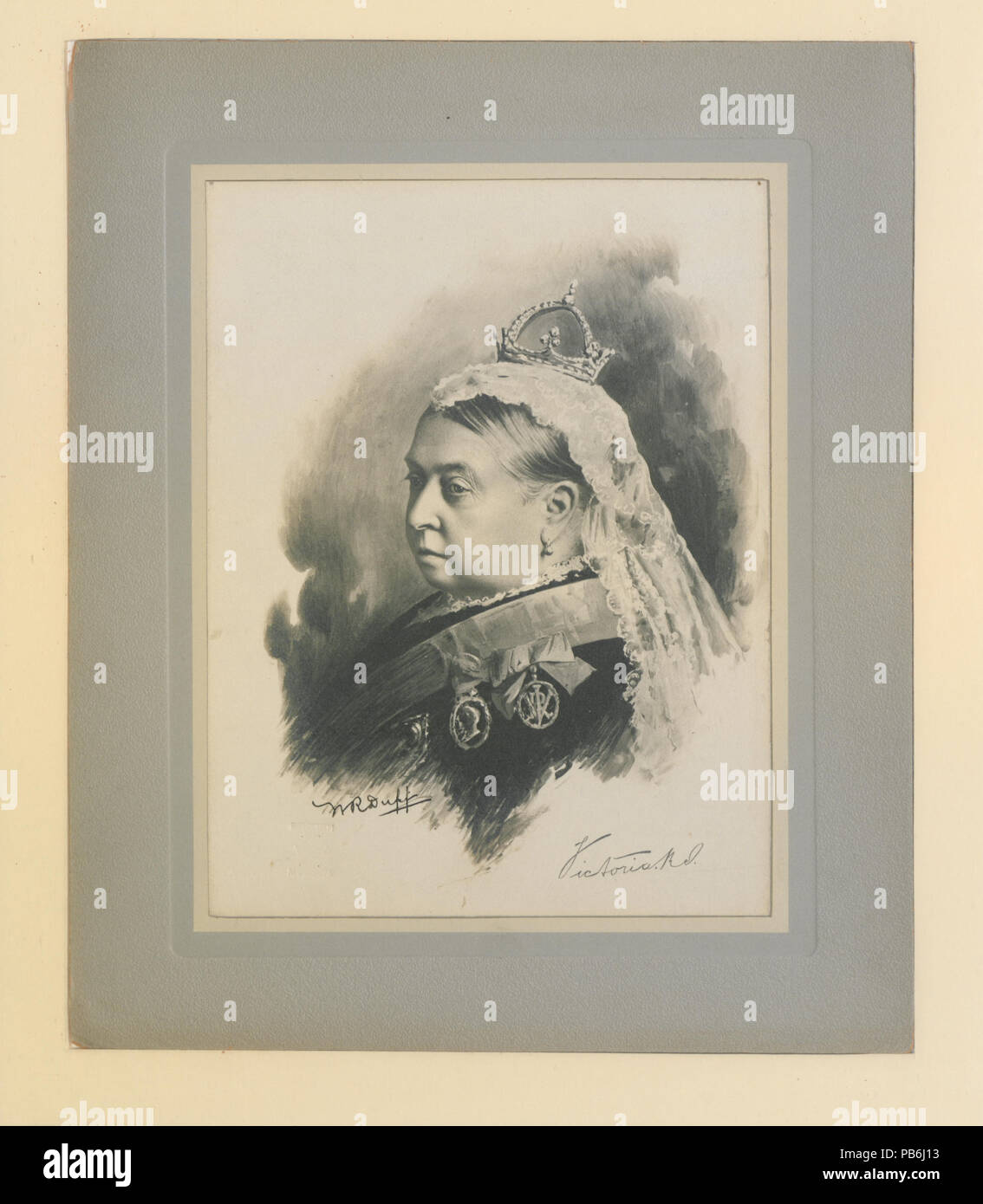 755 Her Late Majesty Queen Victoria photo-lithograph (HS85-10-11965)
