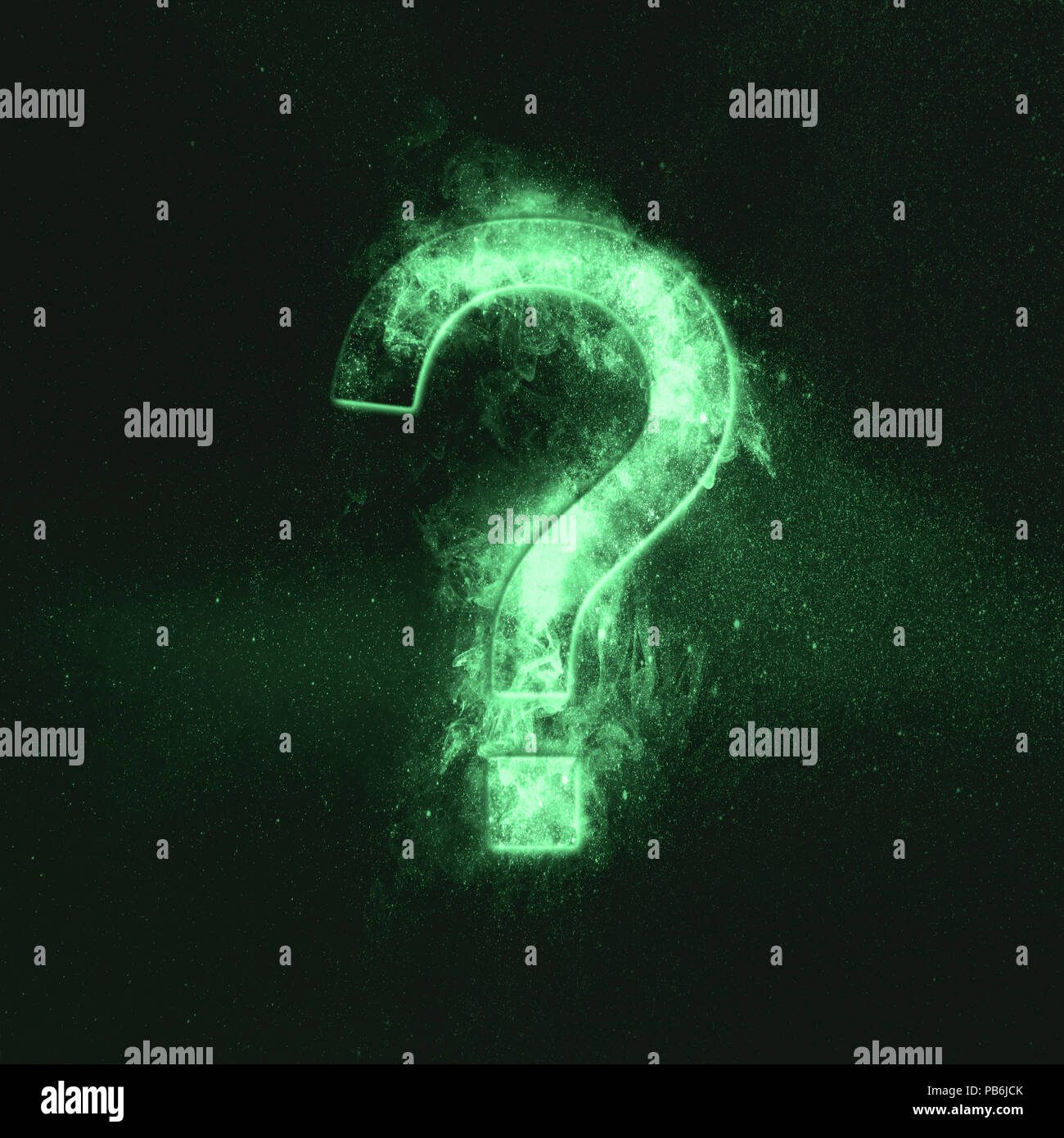 Question mark sign. Green symbol - Stock Image