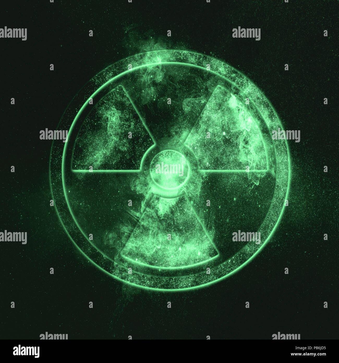 Radiation sign, Radiation symbol Green symbol - Stock Image