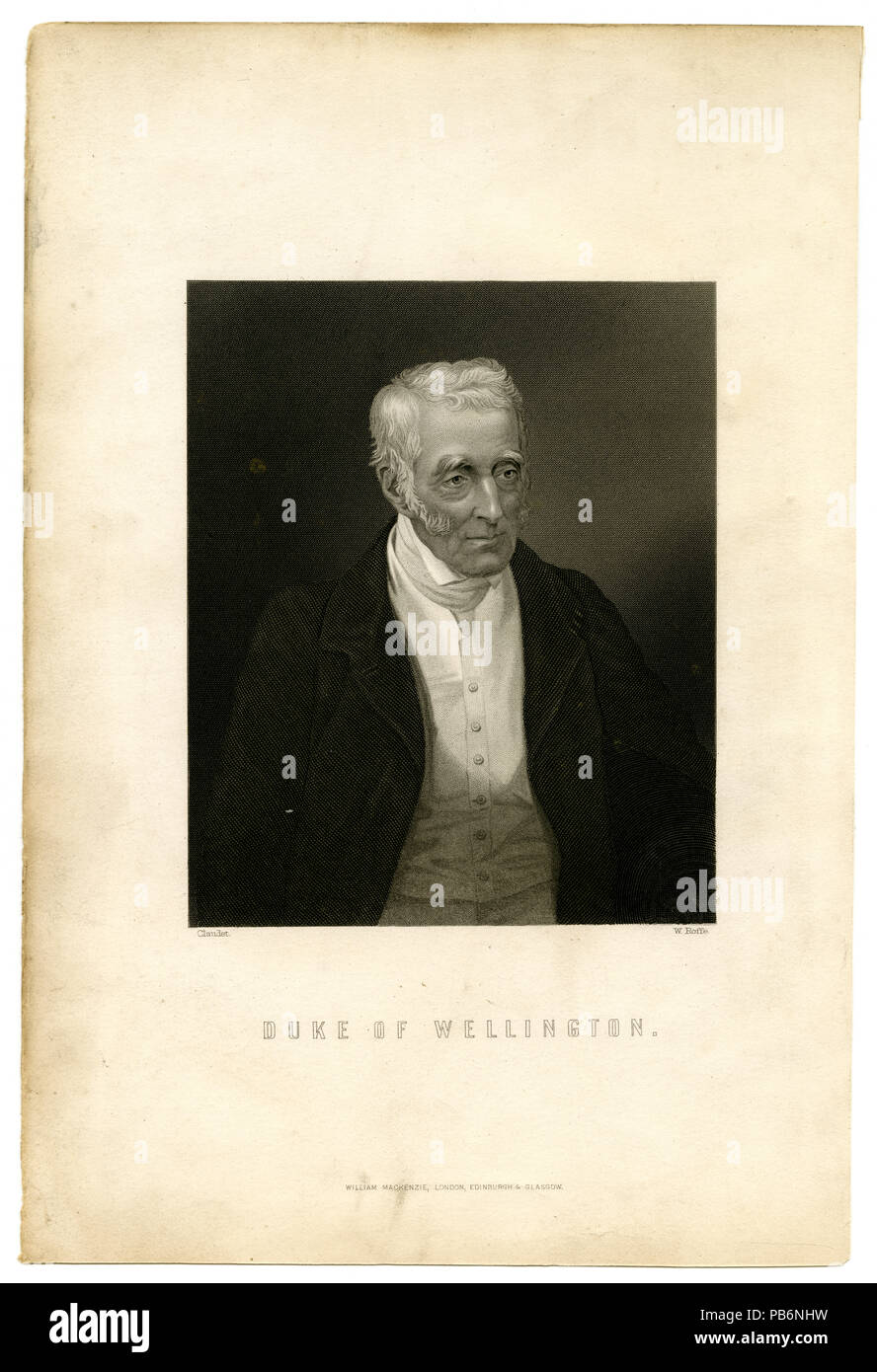 Duke of Wellington. - Stock Image