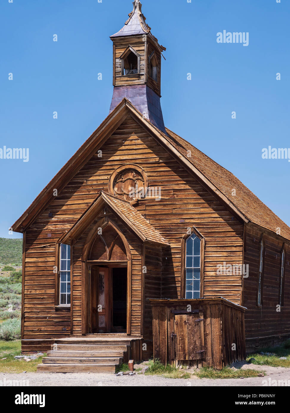 Methodist Church, Bodie ghost town, Bodie State Historic Park, California. - Stock Image
