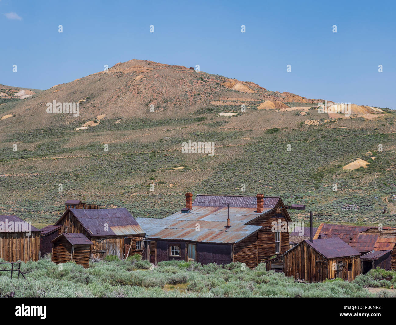 Homes and buildings, Bodie ghost town, Bodie State Historic Park, California. - Stock Image