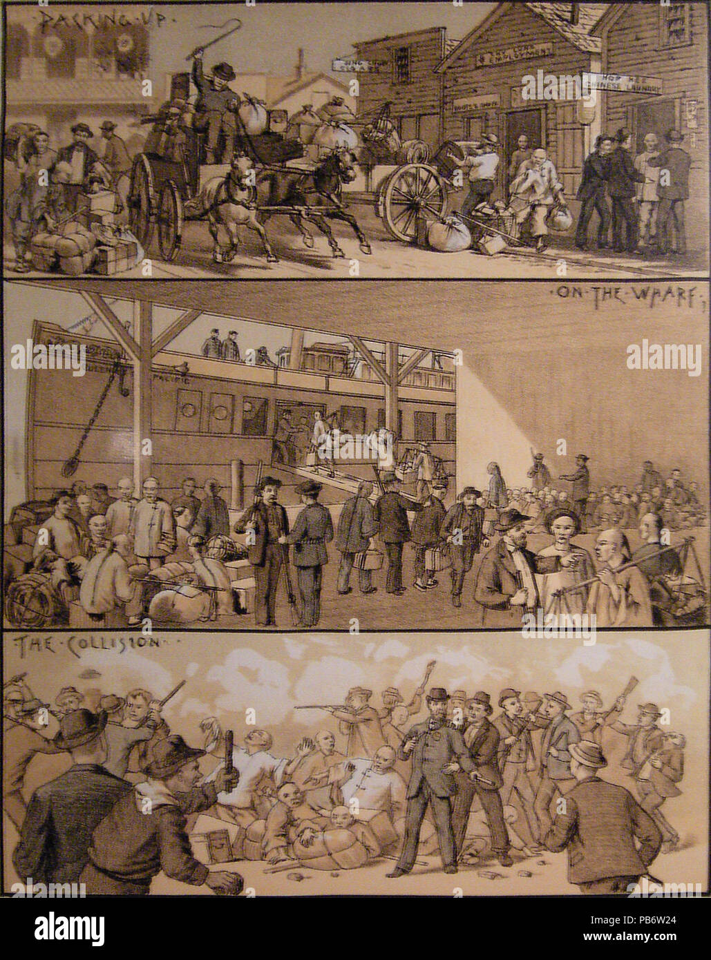 1842 West Shore Magazine on the Seattle anti-Chinese riot Stock Photo