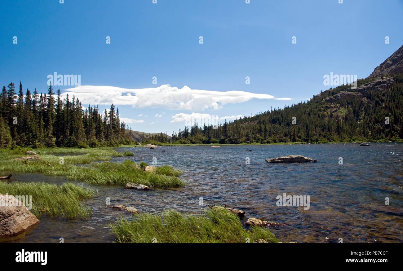 Diamond Lake Arapaho National Forest Colorado - Stock Image
