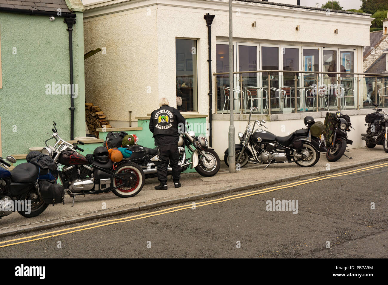 Motorbikes of the Blue Angels Motorbike Club at Port Patrick