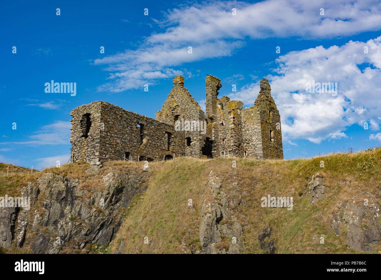 Dunskey Castle Port Patrick. Scotland - Stock Image