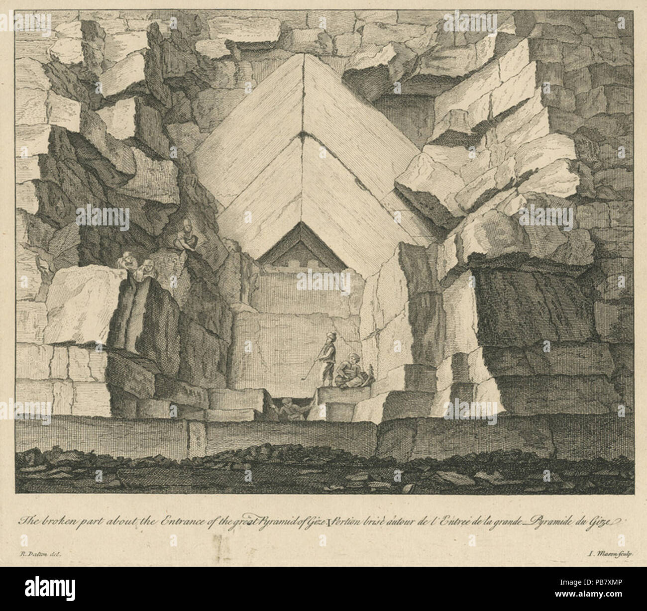 1619 The broken part about the Entrance of the great Pyramids of Gize -  Dalton Richard - 1751