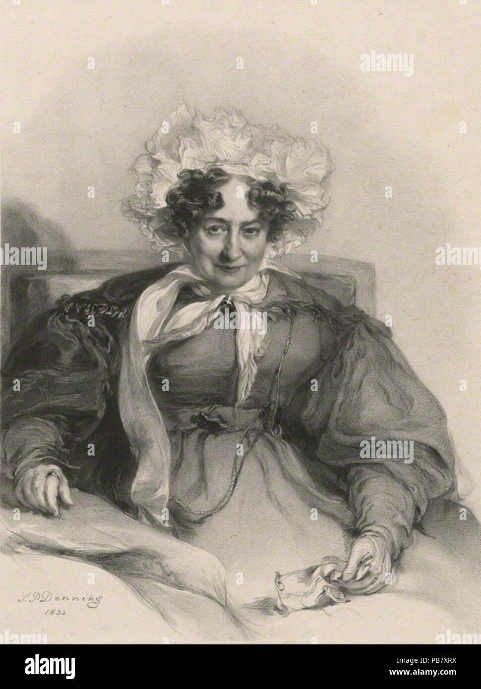 by Richard James Lane, after  Stephen Poyntz Denning, lithograph, 1833 (1832) 1282 Sabrina Sidney 1833 - Stock Image