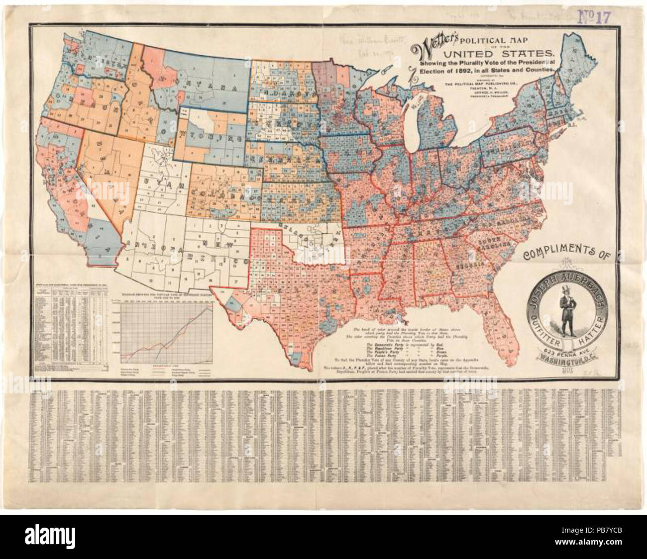 1840 Wellers Political Map Of The United States Showing The - Us-map-1840