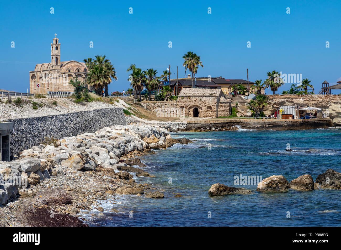 The Agios Thyrsos Church on the Karpasia Peninsula in Turkish Cyprus. (Turkish Republic of Northern Cyprus). Stock Photo