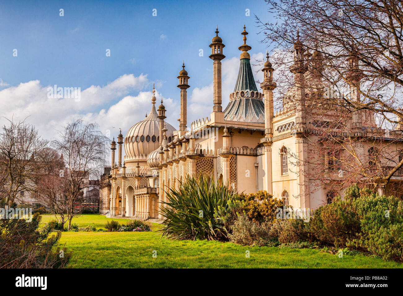Brighton Royal Pavilion in early spring. - Stock Image