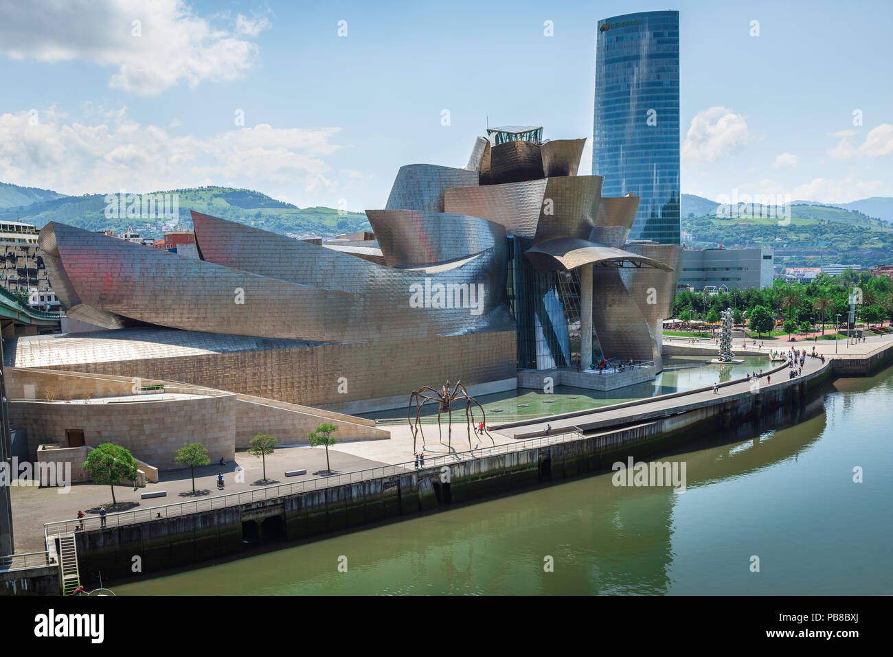 Guggenheim Museo.Bilbao Guggenheim Museum View Of The Frank Gehry Designed