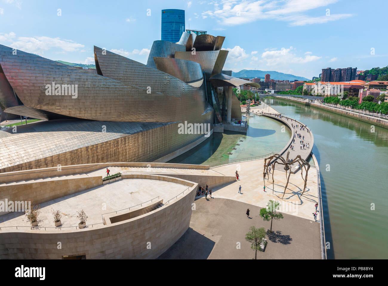 Guggenheim Museo.Guggenheim Museum Bilbao View Of The Frank Gehry Designed