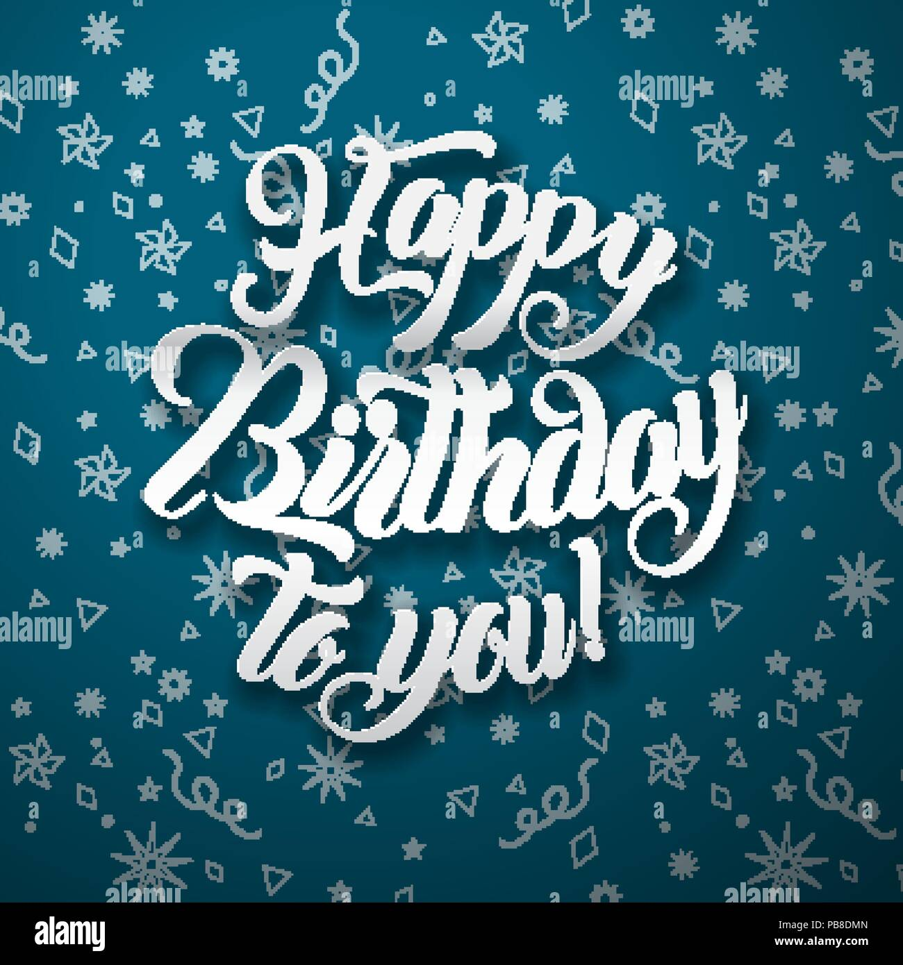 "/""HAPPY BIRTHDAY to you/"" blue lettering Card"
