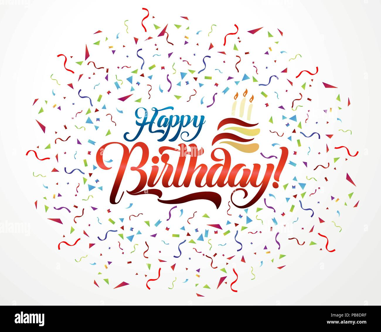 Happy birthday lettering text vector illustration birthday greeting happy birthday lettering text vector illustration birthday greeting card design m4hsunfo
