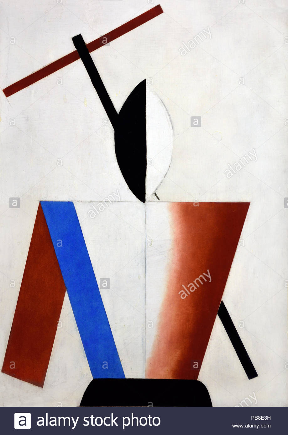 Woman with Cross 1928 Nikolai Suetin 1897 – 1954 was a Russian Suprematist artist. He worked as a graphic artist, a designer, and a ceramics painter. Russia, USSR. - Stock Image