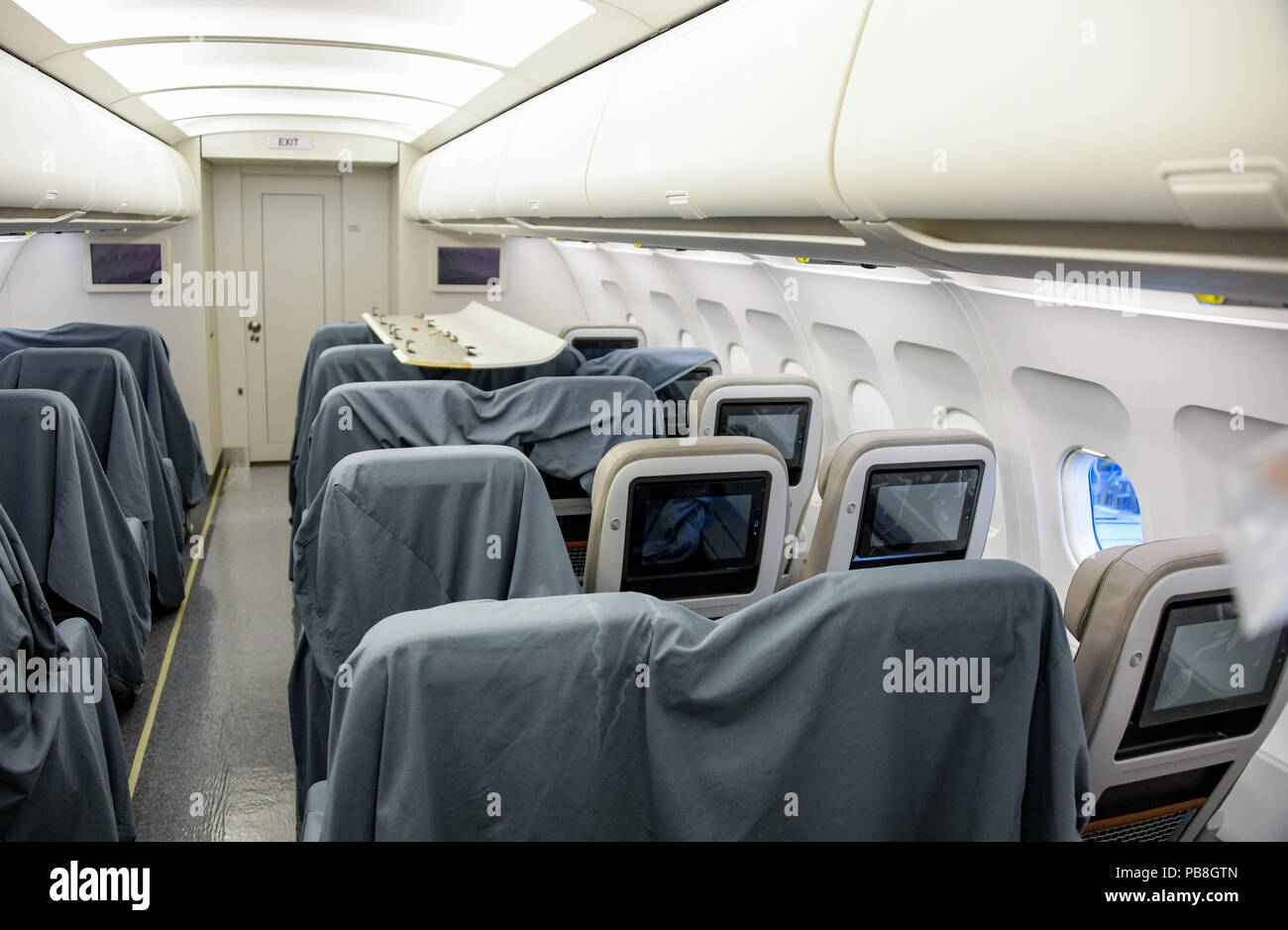 Airbus A321 Interior Stock Photos Airbus A321 Interior Stock