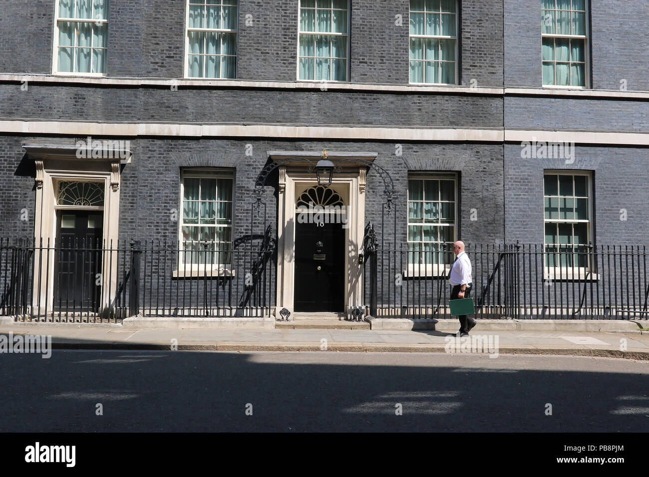 London, UK. 28th July 2018. British Prime Minister's Office, 10 Downing Street, Westminster, London, UK, 27 July 2018, Photo by Richard Goldschmidt Credit: Rich Gold/Alamy Live News Stock Photo