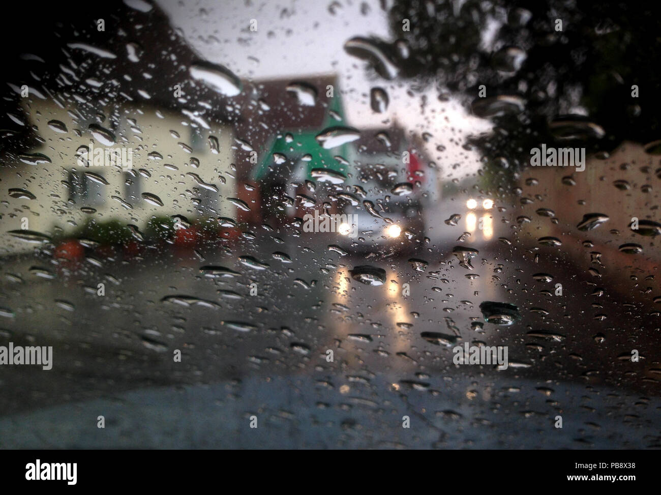 Thaxted, North West Essex  27th July 2018  UK Weather: Heavy