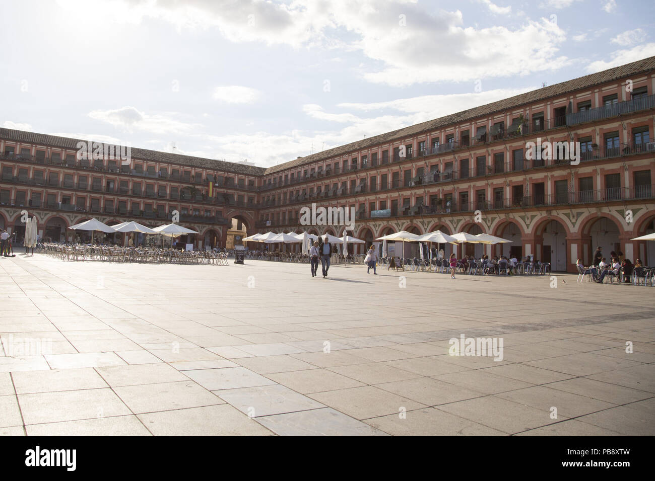 June 10, 2018 - CóRdoba, Spain - Plaza Mayor of Córdoba.Córdoba was the capital of the Later Hispania in the times of the Roman Republic, or of the Bética province during the Roman Empire and the Caliphate of Córdoba during the Muslim era. Credit: Lito Lizana/SOPA Images/ZUMA Wire/Alamy Live News Stock Photo