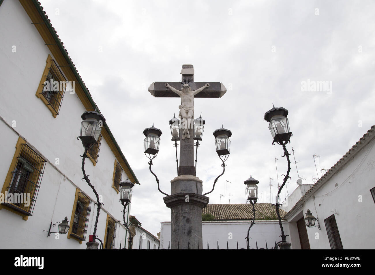 June 10, 2018 - CóRdoba, Spain - Christ of the Lanterns of day.Córdoba was the capital of the Later Hispania in the times of the Roman Republic, or of the Bética province during the Roman Empire and the Caliphate of Córdoba during the Muslim era. Credit: Lito Lizana/SOPA Images/ZUMA Wire/Alamy Live News Stock Photo