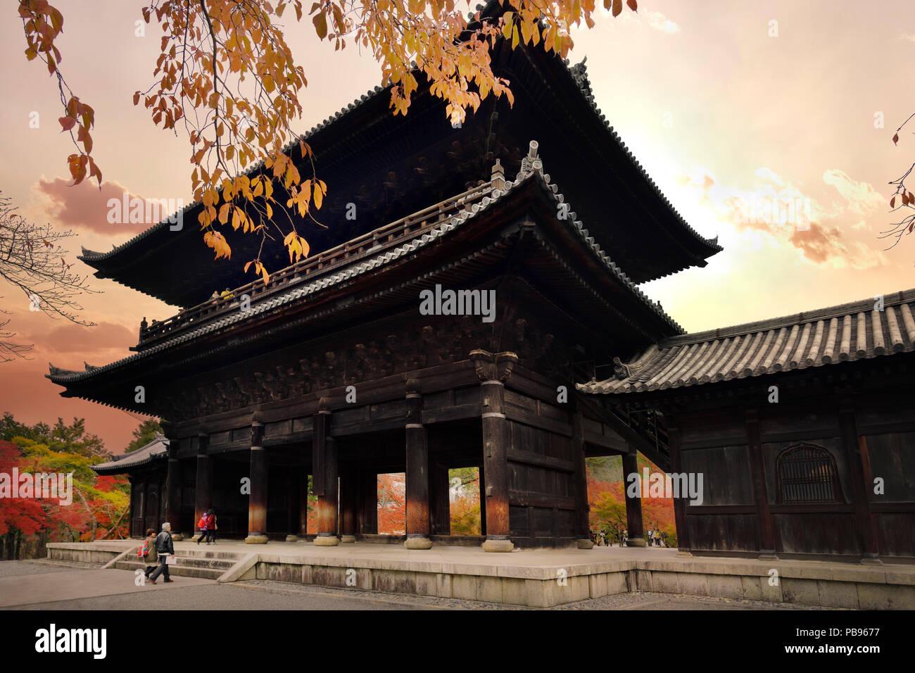 The Sanmon, San-mon, the main gate of Nanzen-ji historic Zen Buddhist temple in Sakyo-ku, Kyoto, Japan 2017 - Stock Image