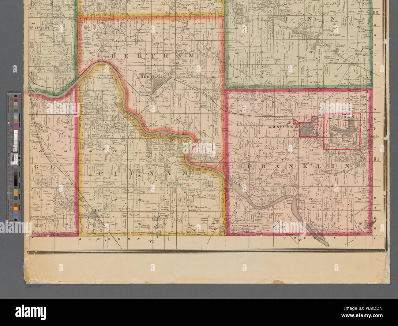 993 Map Of Linn County Iowa Nypl B11655881 5366938 Stock Photo