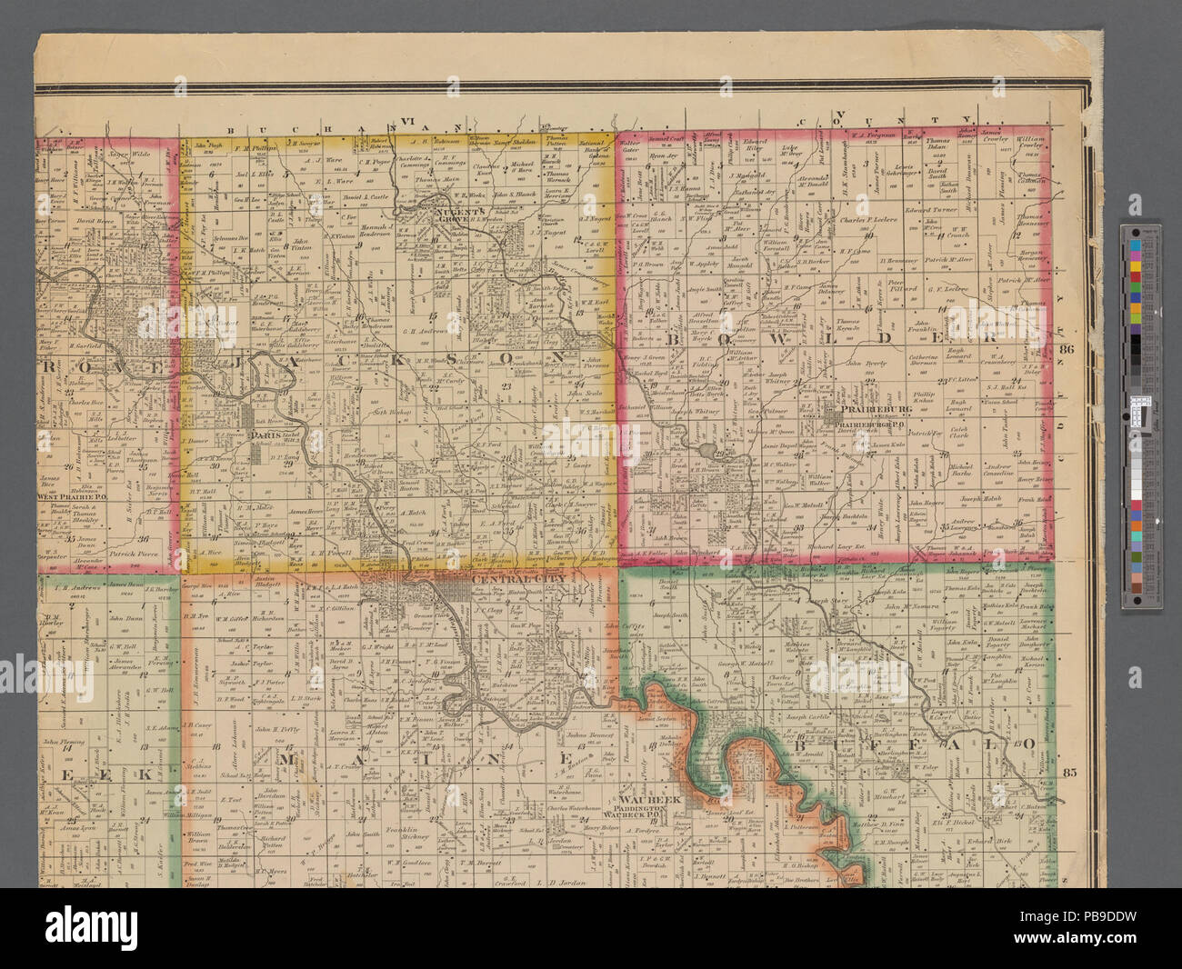 993 Map Of Linn County Iowa Nypl B11655881 5366944 Stock Photo