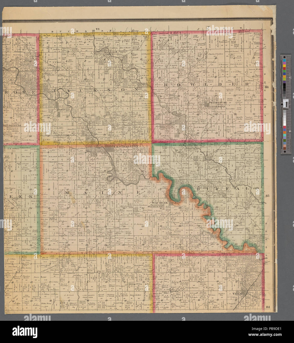 993 Map Of Linn County Iowa Nypl B11655881 5366946 Stock Photo
