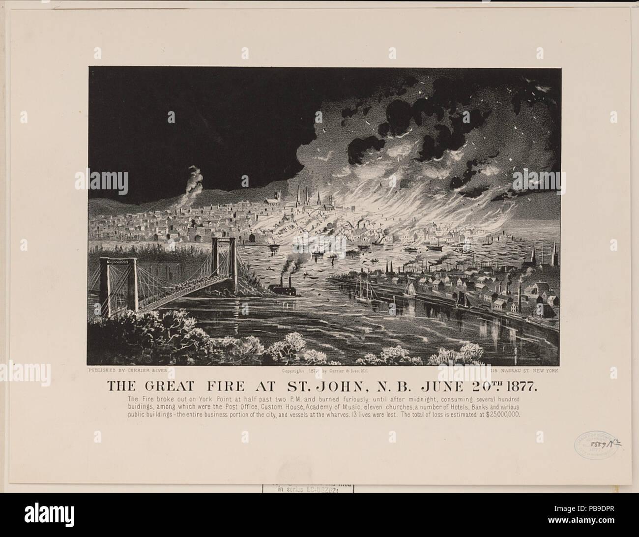 The Great Fire at Saint John, June 20, 1877