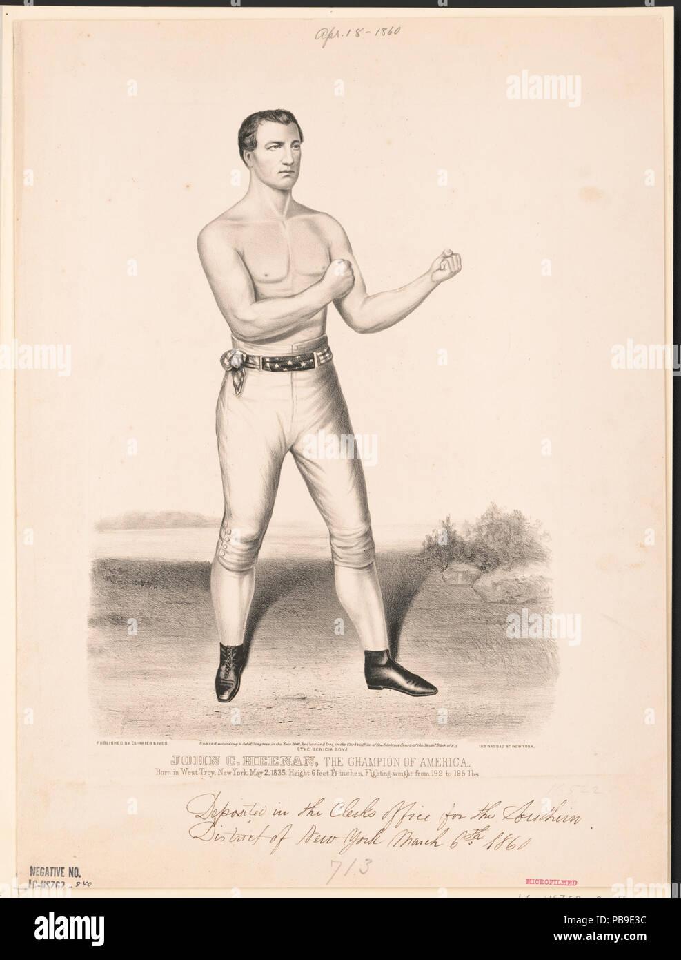 836 John C. Heenan, the champion of America- (the benicia boy) LCCN2002707678 - Stock Image
