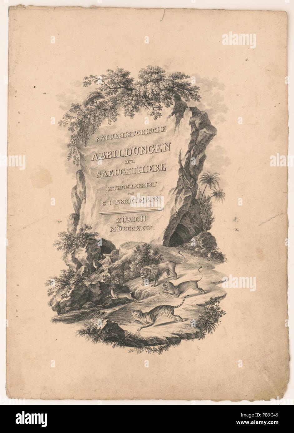 1084 Naturhistorische abbildungen der saeugethiere LCCN2002736912 - Stock Image