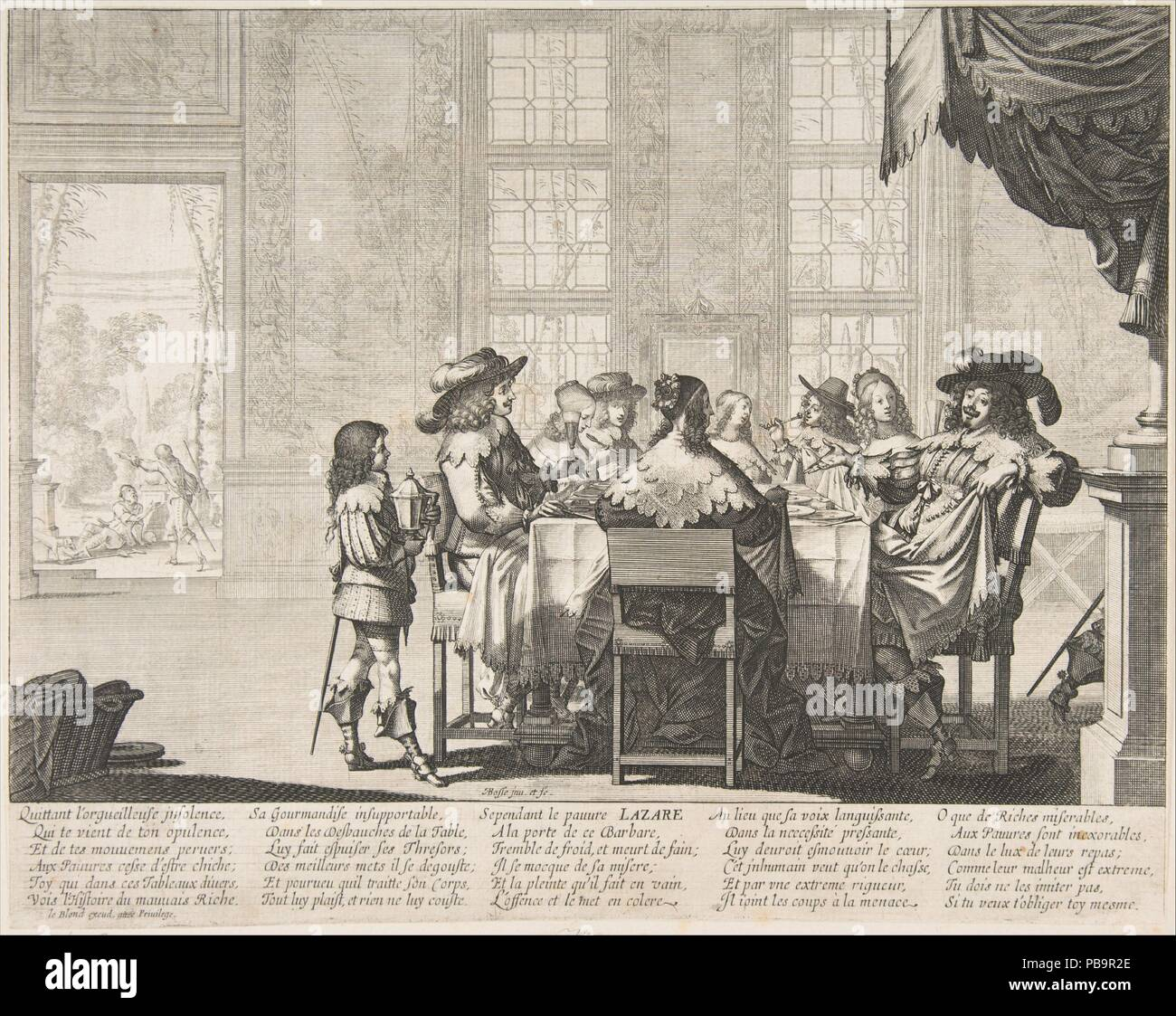 The Banquet of the Rich Man  Artist: Abraham Bosse (French
