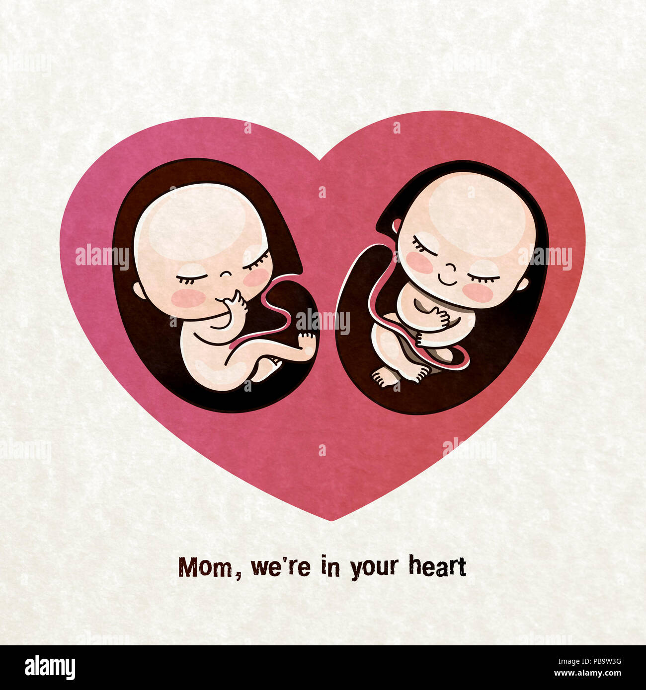Unborn Children Are Twins In The Mothers Heart Postcard For Mom Birthday Greetings Congratulations On A Newborn Gift To Pregnant Woman
