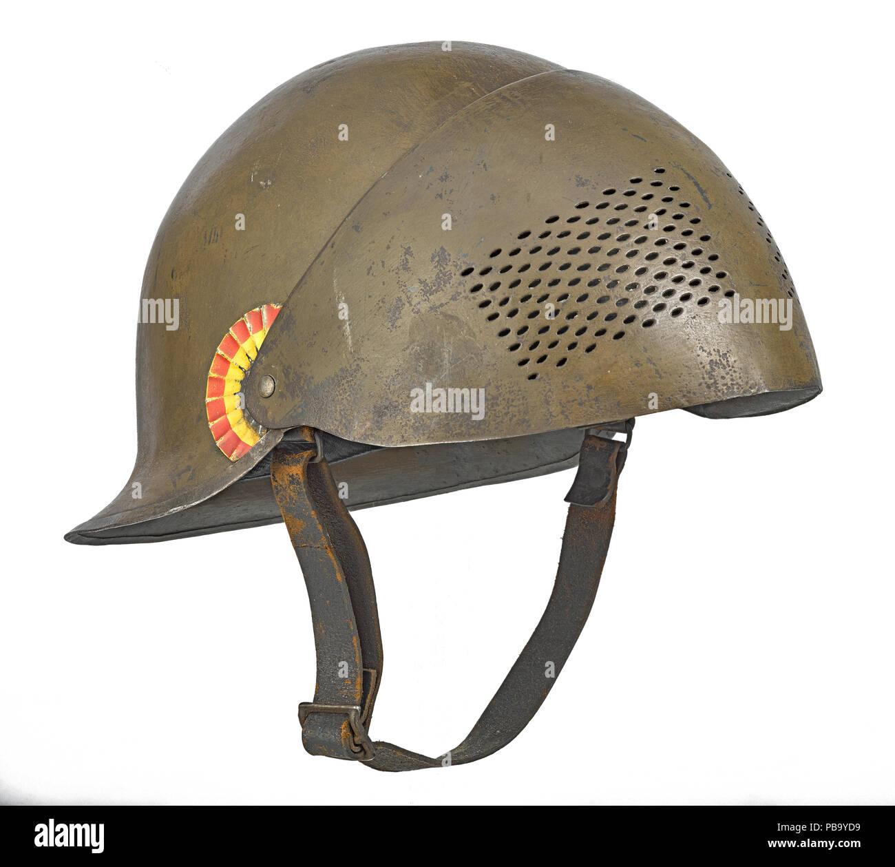 Anglo-Belgian helmet - Stock Image