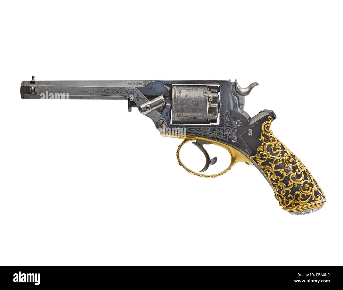 Percussion five-shot revolver - Stock Image