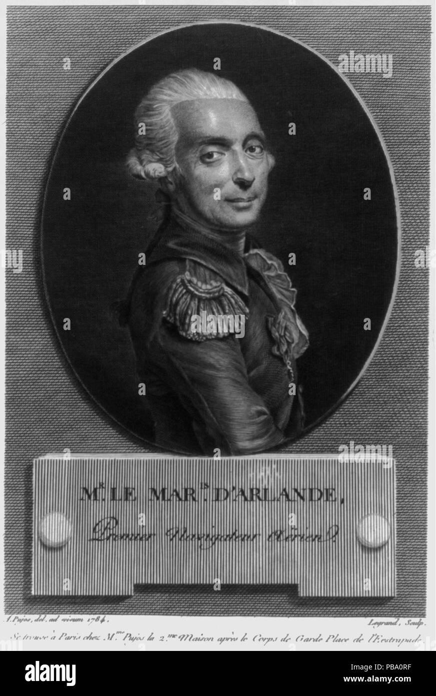 1064 Mr. le maris. dʹArlande, premier navigateur aërien LCCN2002716384 - Stock Image