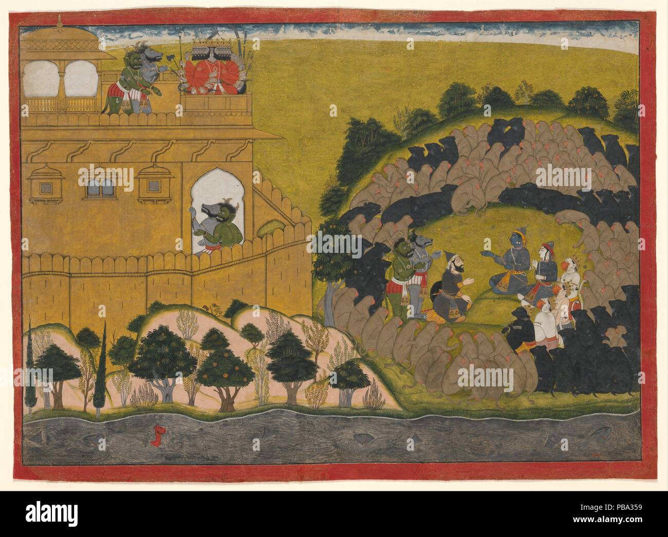 Rama Releases the Demon Spies Shuka and Sarana: Folio from a ...