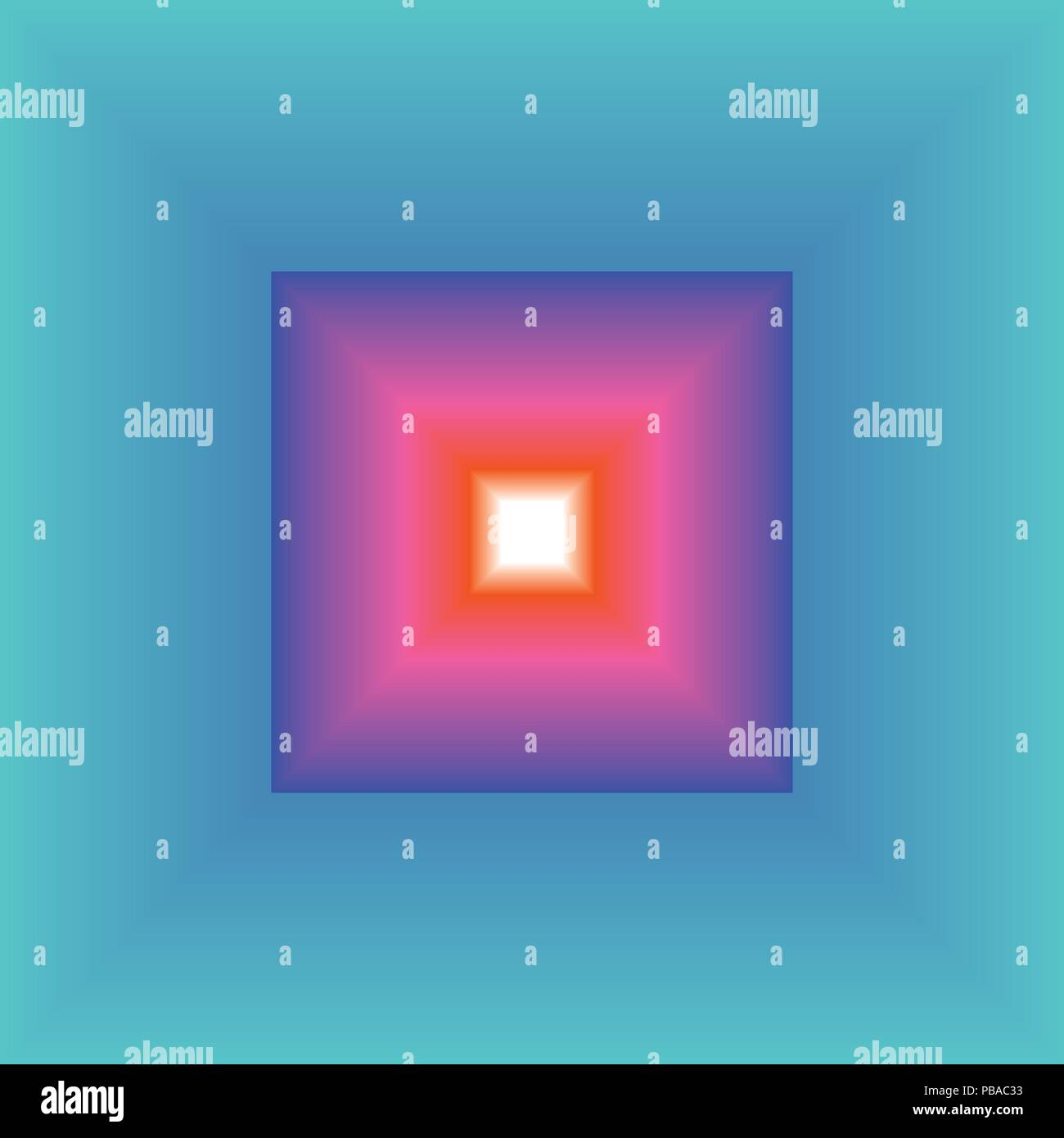 Abstract Frame Gradient Blended from blue to white thru green and magenta Stock Vector
