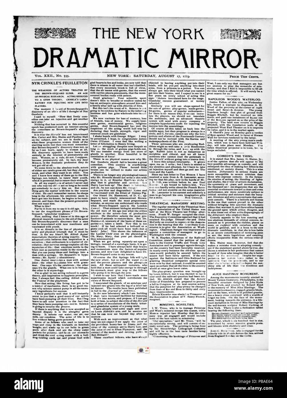 1096 New York Dramatic Mirror 1889-08-17 p. 1