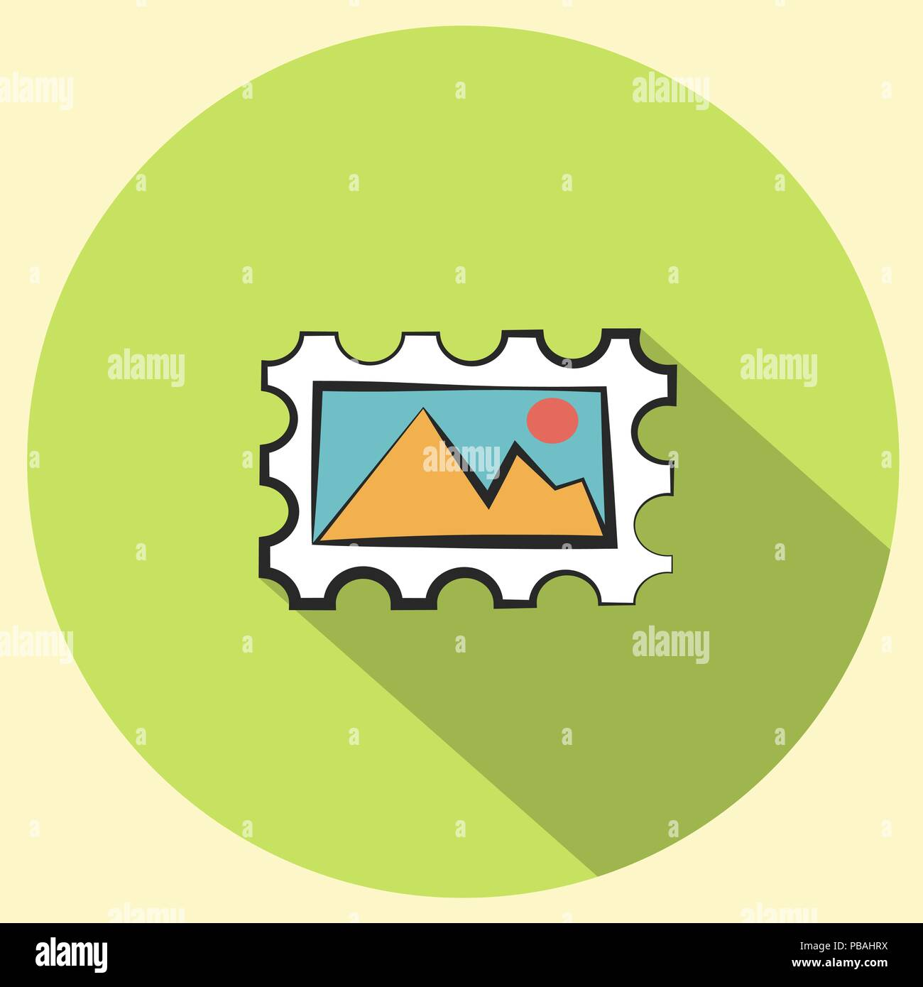 Stamp icon. Pop art style sign. Vector Illustration - Stock Vector