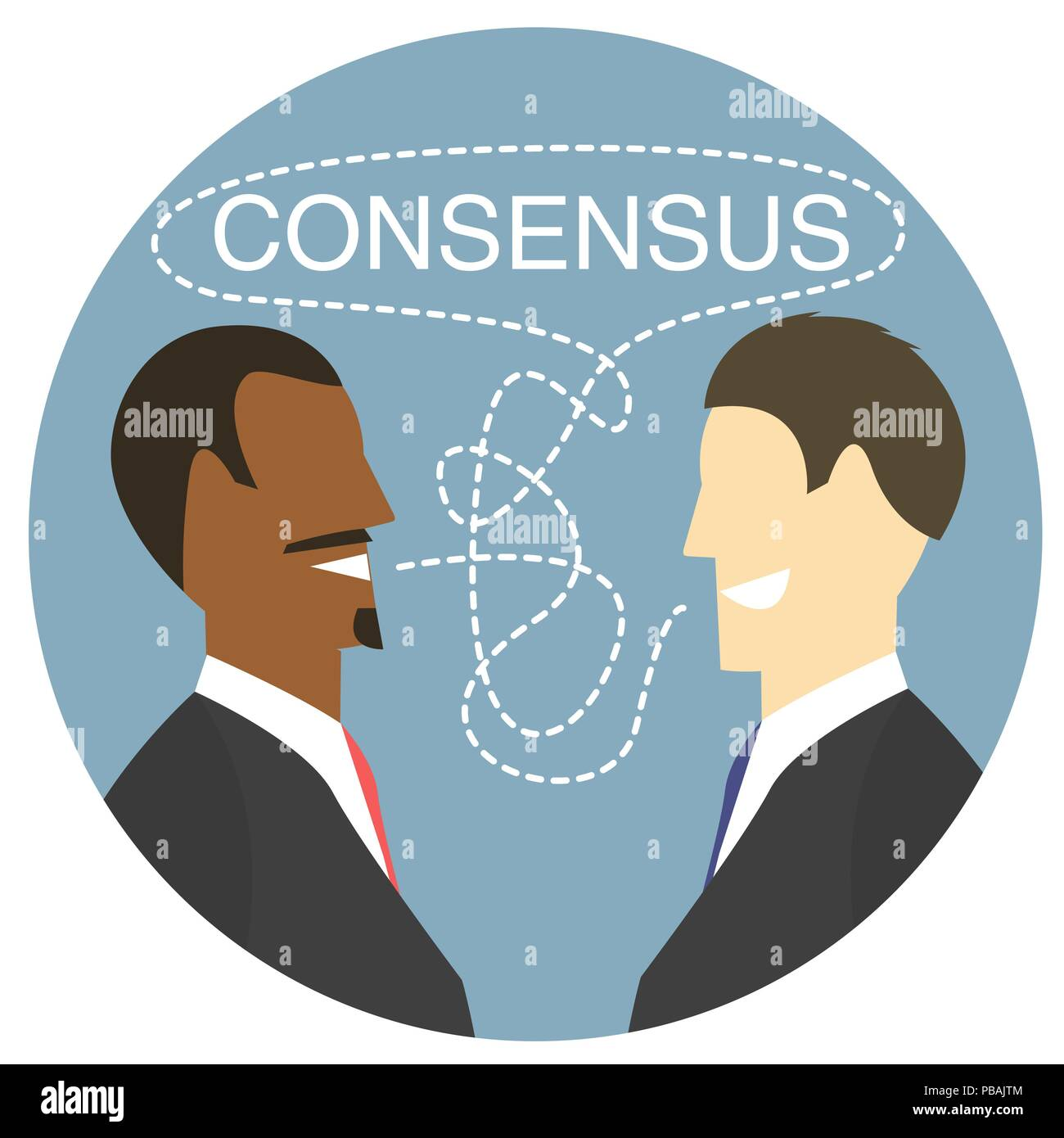 Agreement Flat Design Icon Vector Illustration Of Debates Which