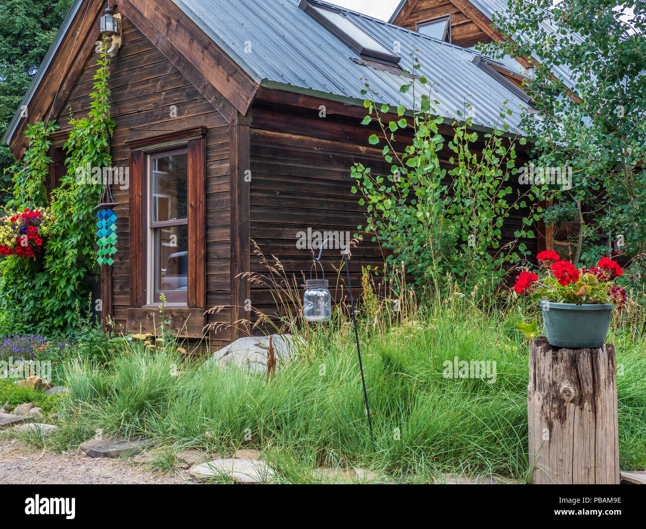 Home, Crested Butte, Colorado. - Stock Image