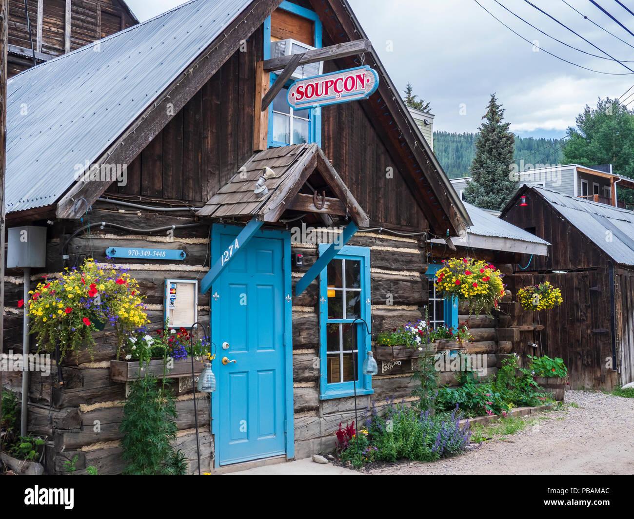 Soupçon Restaurant, Crested Butte, Colorado. - Stock Image