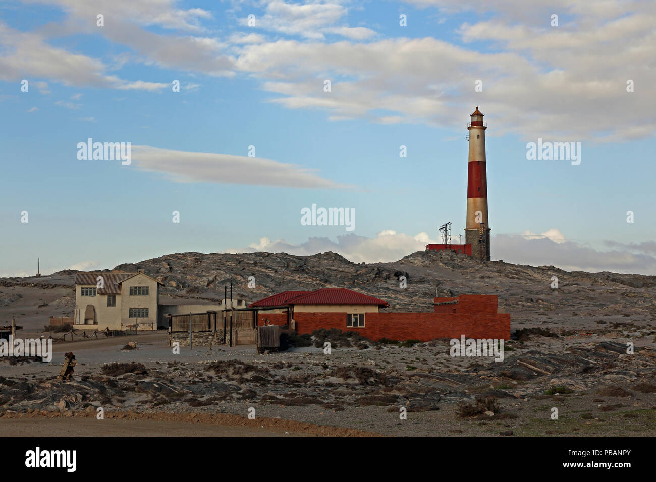 Diaz Point lighthouse, Lüderitz, southern Namibia. - Stock Image